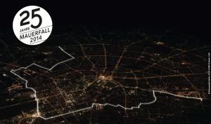 Lichtinstallation zum Berliner Mauerfall